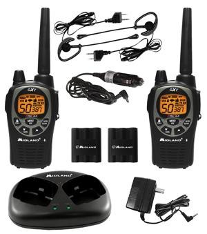 radio teléfono midland gxt1000vp4 - 57 km batería litio
