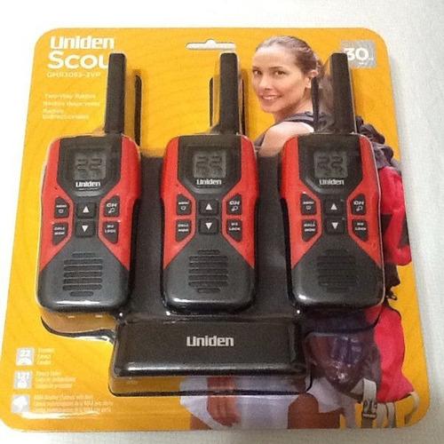 radio teléfono walkie talkie uniden 48klm us gmrs 3 pack kit