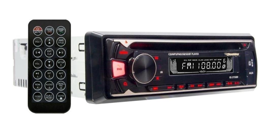 Radio Toca Cd Player Mp3 Roadstar Bluetooth Usb Sd Card Aux