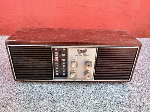 radio transitor evadin am/fm rc603 2speakers 110/220 madeira