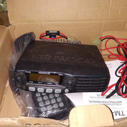 radio transmisor kenwood  frecuencia corrida