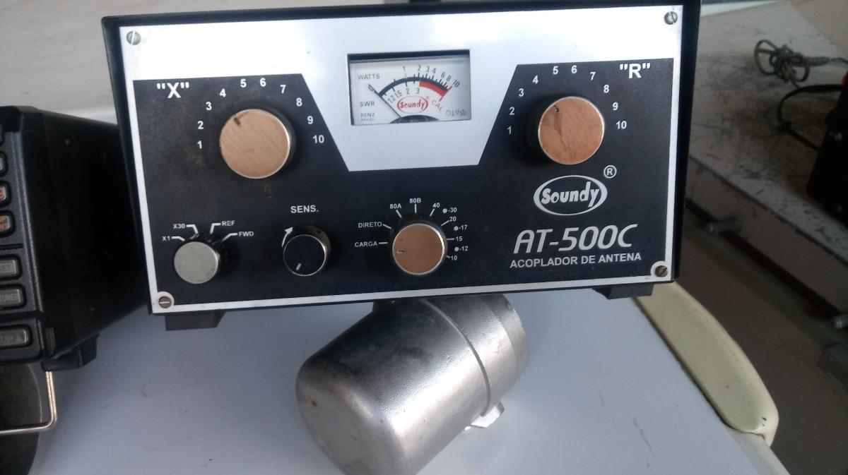 Radio Transmissor Banda Corrida De 80 A 11 Metros Icom Ic-718 150 Watts Com  Acoplador De Estacionária E Fonte Soundy