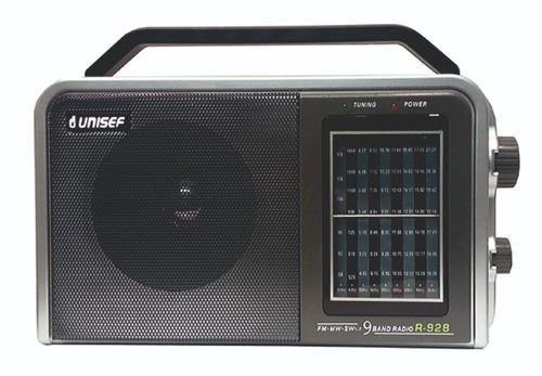 radio unisef 928 dual 9 bandas color gris