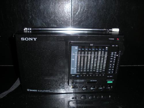 radio usado multibanda sony 1988 12 bandas icf7601 japan