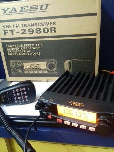 radio vhf yaesu ft-2980r original  novo na caixa - excelente