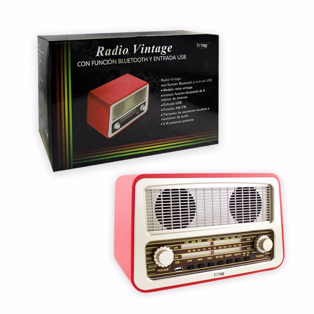 radio vintage con bluetooth am fm y usb na en mercado libre. Black Bedroom Furniture Sets. Home Design Ideas