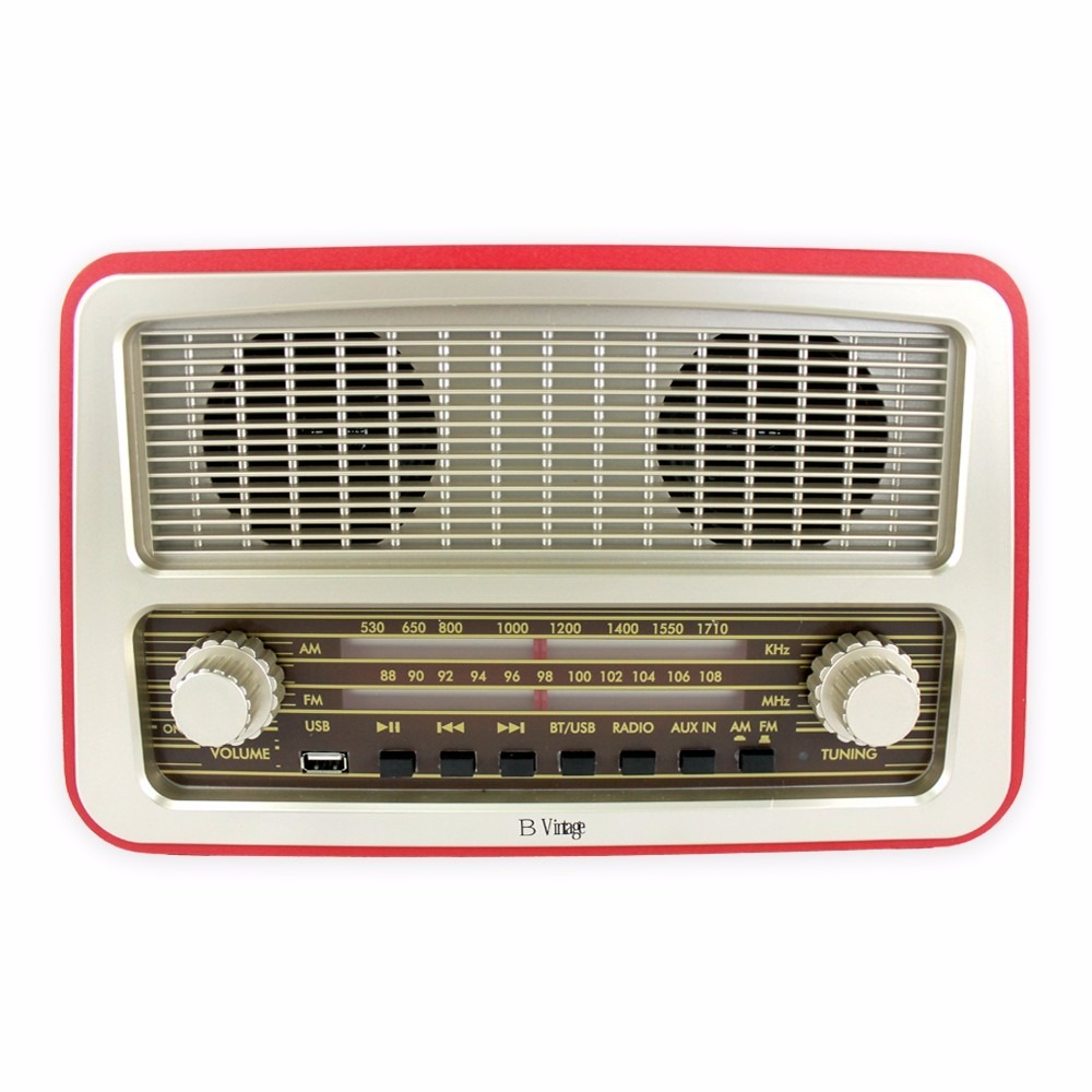 Radio vintage con bluetooth am fm y usb na en for Radio con chiavetta usb