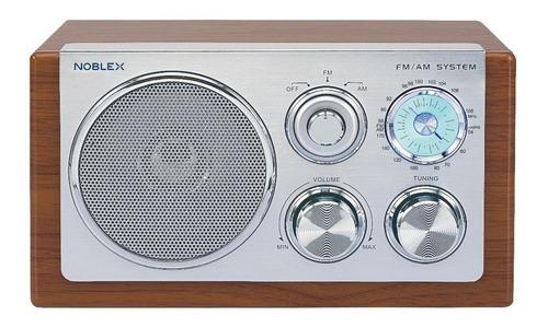 radio vintage de madera am/fm noblex rx40m
