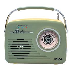 Radio Vintage Parlante Bluetooth Portatil Spica Sp120 Am/fm