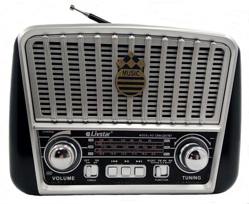 radio vintage portátil retro bluetooth usb recarregável 2257