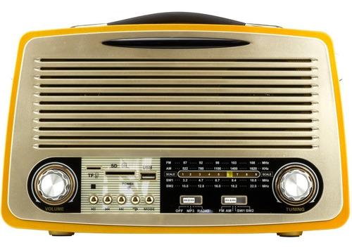 radio vintage retro am fm usb bateria som bluetooth antigo