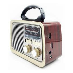 Radio Vitage  Parlante Usb Recargable  Bluetooth  Am/fm Mp3