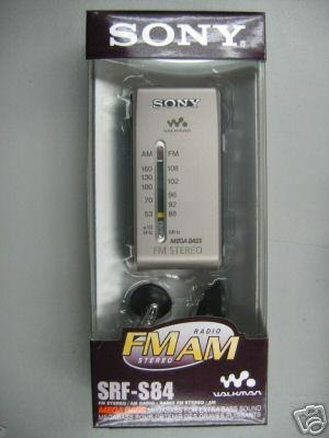 radio walkman sony srf-s84 megabass original