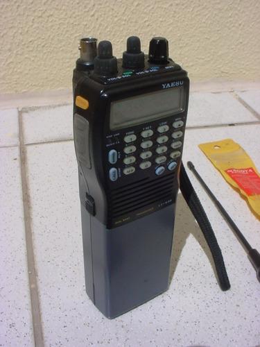 rádio yaesu ht dual band ft 530 ptt digital e antena nagoya.