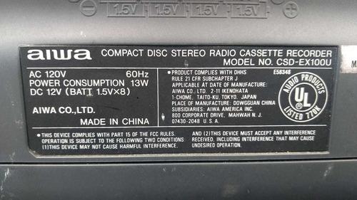 radio/cd aiwa