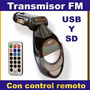Transmisor Inalambrico Fm Para Carro Si Tu Radio No Lee Mp3
