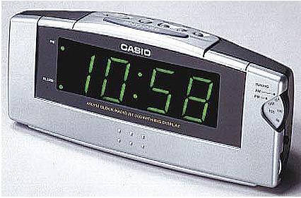 93b8b2479881 Radioreloj Despertador Casio Rt 300 Funciona Números Grandes -   750 ...