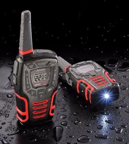 radios cobra microtalk 45km* (28 millas) acxt545 vs agua
