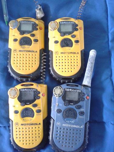 radios motorola a revisar, cuatro equipos, talkabaout