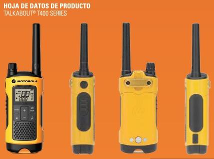 radios motorola t400 impermeable 35millas-56kms nvo recargab