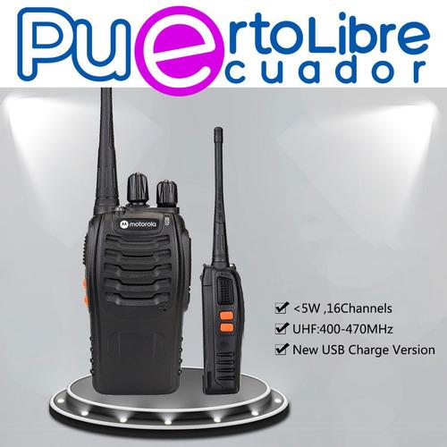 radios motorola walkie talkie 48km fm linterna + r e g a l o