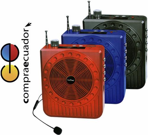 radios parlante recargable y luz usb sd karaoke graba voz