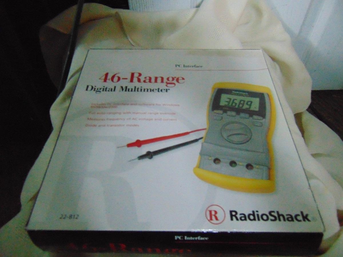 Radioshack 22-812 Herramienta Multímetro De 46 Rangos Digit