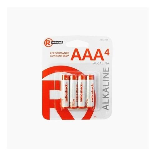 radioshack - pilas alcalinas aaa x4