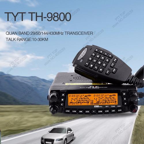 radiotelefono tyt th-9800 - 29/50/144/430mhz ent.6 dia abil