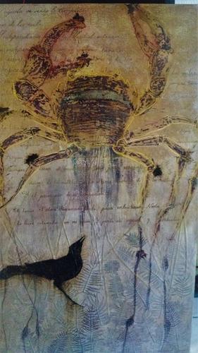 rafael aquino - pintura cancrejo encáustica - arte oaxaqueño