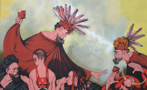 rafael coronel serigrafía 114x154 cm. certificado  artist
