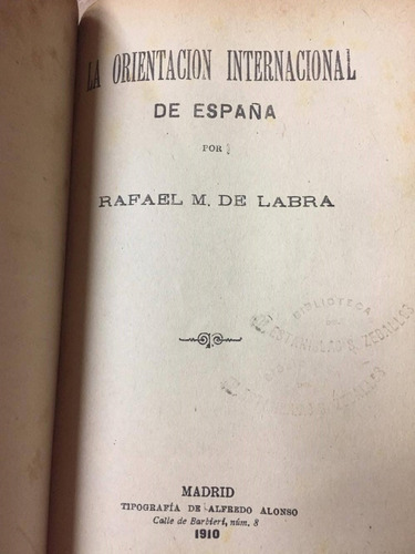 rafael m. de labra. 5 libros en 1. con carta de conde. 1910
