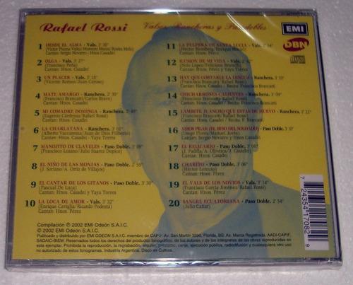 rafael rossi valses rancheras y pasodobles cd sellado