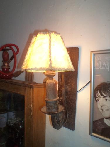 rafo antigua lampara de fierro para pared braquete