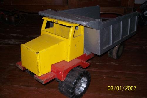 rafo antiguo camión de madera jueguete
