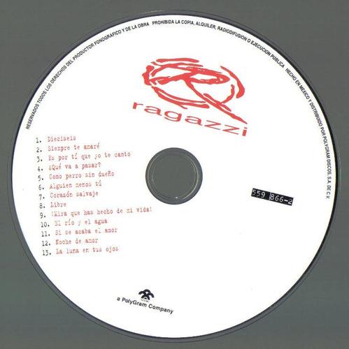 ragazzi libre cd como nuevo c/ booklet integro 1a ed 1998