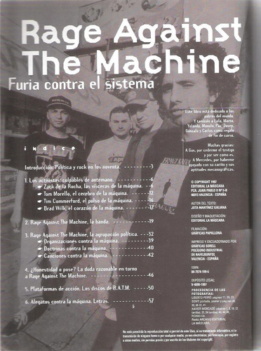 rage against the machine. furia contra el sistema.