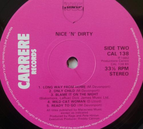 rage vinyl vintage nice n dirty