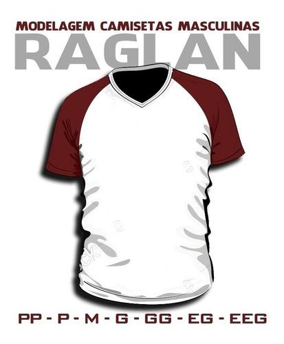 raglan moldes camisetas masculinas e femininas