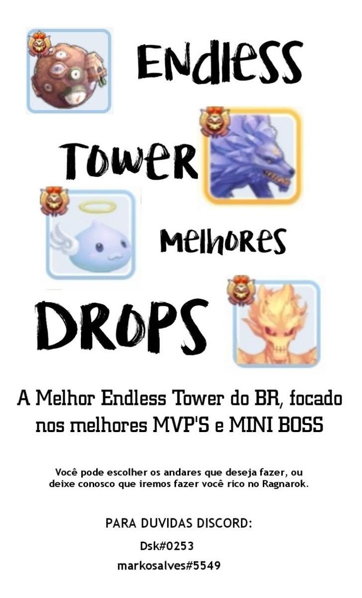 Ragnarok Mobile Endless Tower 1-100 Melhores Boss & Drops