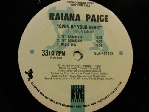 raiana paige - open up your heart vinilo 12 pulgadas