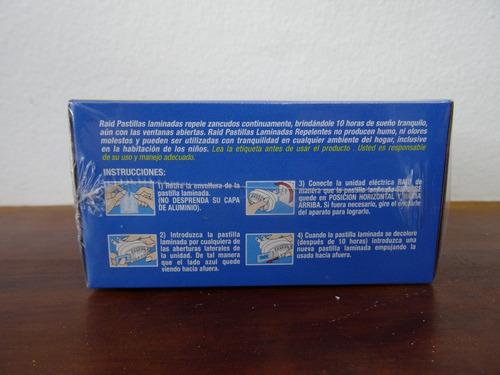raid pastillas repuesto contra zancudos mosquitos x 12unds