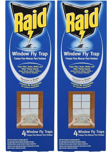 raid trampa para moscas de ventana, 4 unidades