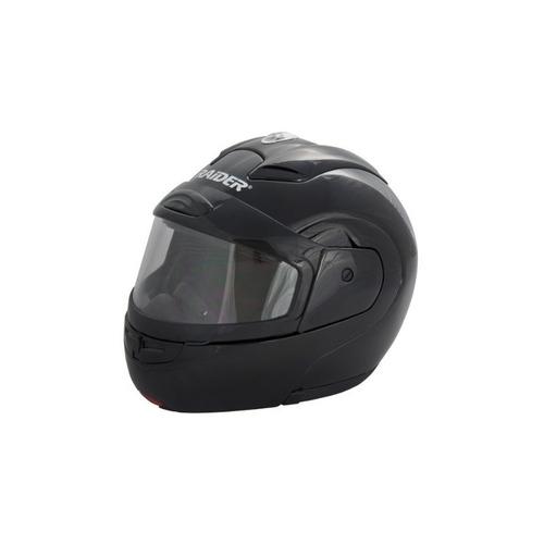 raider dual lens modular helmet (negro, grande)