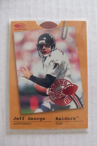 raiders/falcons jeff george card