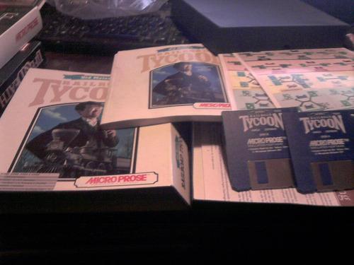 railroad tycoon juego amiga edicion alemana 2 diskettes