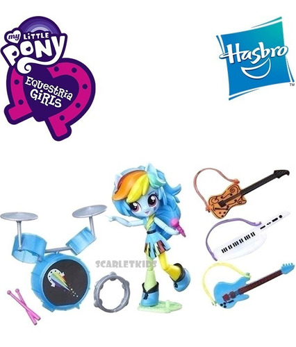 rainbow dash musica rock equestria girls muñeca hasbro orig