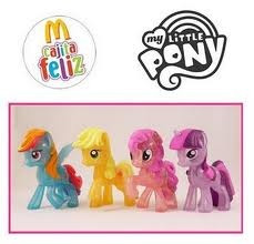 rainbow dash my little pony mc donalds cajita feliz 2011