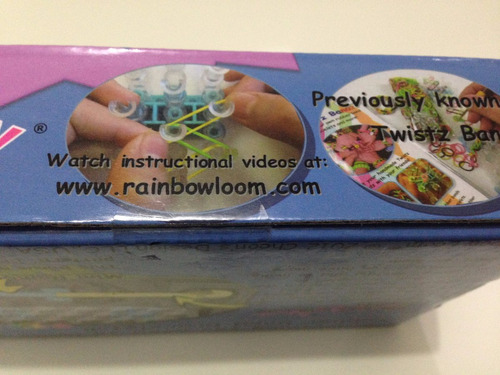 rainbow loom original kit pulseira elástico colorido arte