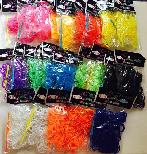 rainbow loom - pulseira de borracha - 800 elásticos loucura